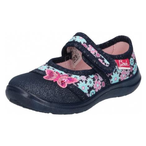 BECK Pantofle 'Beauty' tmavě modrá / pink / světlemodrá