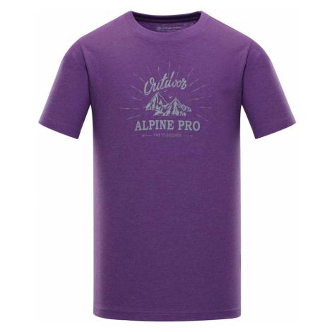 ALPINE PRO MARV 2 Pánské triko MTSN353827 Amaranth purple