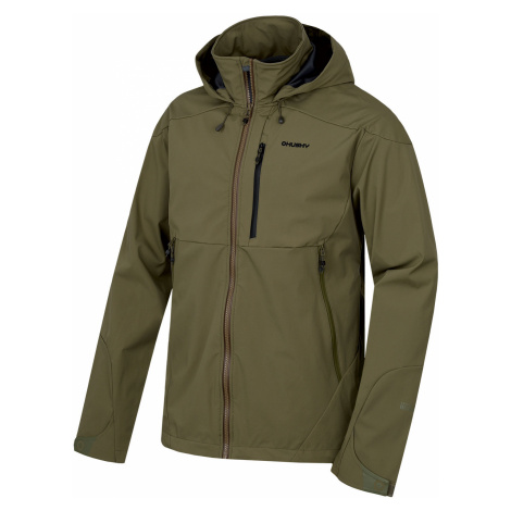 Husky Sauri M, tm. olivová Pánská softshellová bunda
