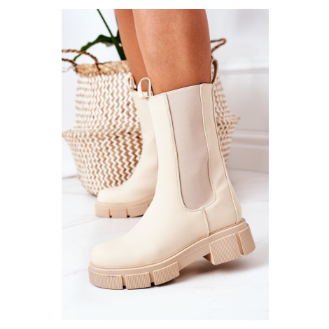 Insulated Chelsea Boots Beige Must Have Kesi