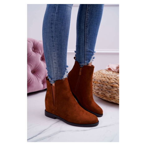 Women's Boots On Wedge Camel Tema Kesi