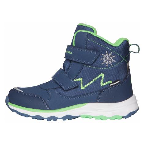ALPINE PRO MOKOSHO Dětská zimní obuv KBTS261682 nautical blue