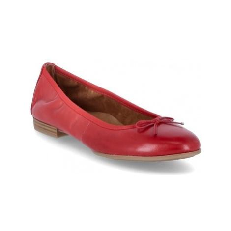 Tamaris Ballerinas Červená