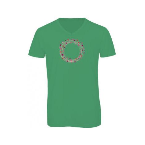 Pánské triko s výstřihem do V Srdcový kruh