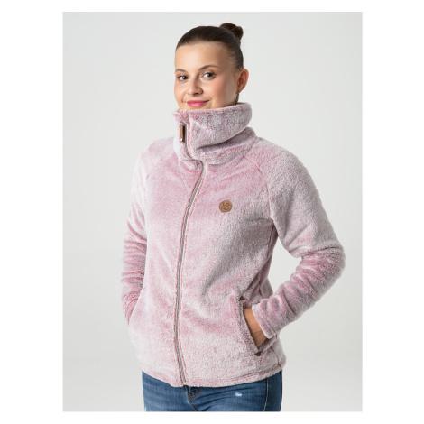 Světle růžová dámská funkční fleecová mikina LOAP Chada