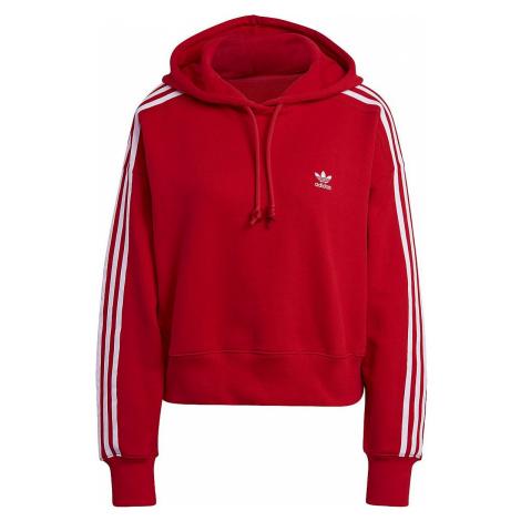 Adidas Short Hoodie Dámská mikina s kapucí červená