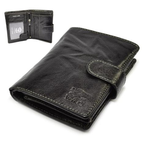 Pánská peněženka černá s přezkou Wild