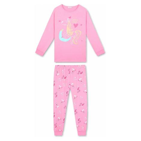 Dívčí pyžamo - KUGO MP1296, růžová světle
