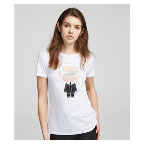 Tričko Karl Lagerfeld Ikonik Karl T-Shirt - Bílá