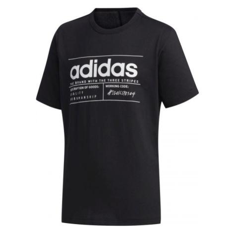 adidas YB BB T černá - Chlapecké tričko