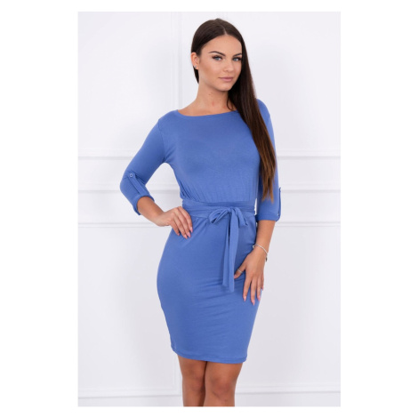 Dress with a roll-up sleeve jeans Kesi