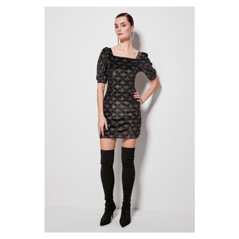 Trendyol Multi-ColourEd Short Sleeve Dress