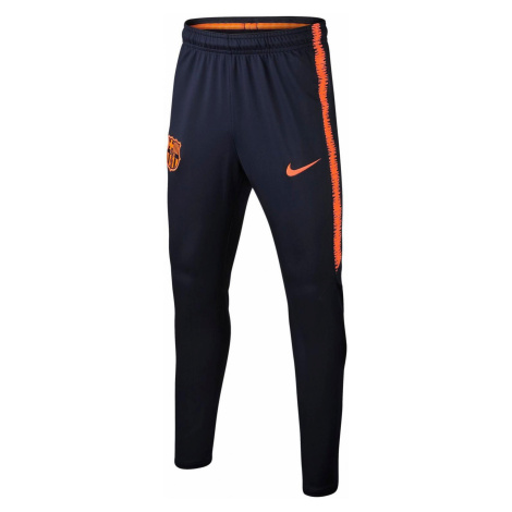 Dětské kalhoty Nike Dry Squad FC Barcelona Tmavě modrá / Oranžová