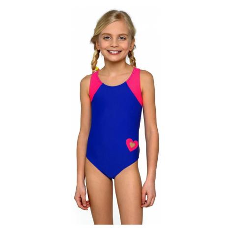 Lorin Dívčí jednodílné plavky Eliška modrorůžové