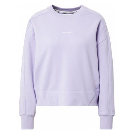 Calvin Klein Jeans Mikina světle fialová / bílá