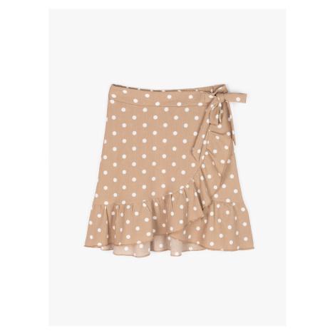 GATE Zavinovací tečkovaná mini sukně