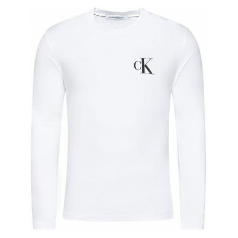 Calvin Klein Calvin Klein pánské bílé tričko s dlouhým rukávem ECO LONG SLEEVE T-SHIRT