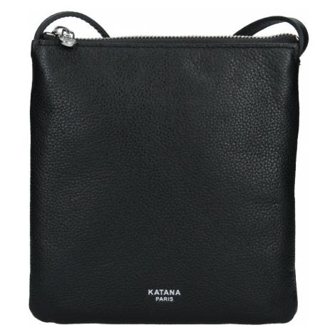 Kožená dámská crosbody kabelka Katana Elisan - černá