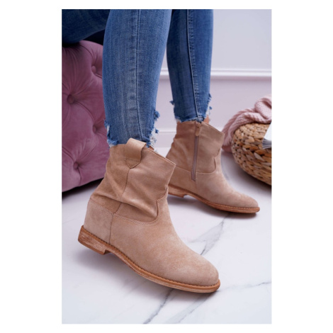 Women's Boots On Wedge Beige Ellen Kesi