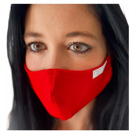 NANO rouška FIX AG-TIVE 10F 99,9% (2-vrstvá s kapsou, fixací nosu a 10 filtry) Červená