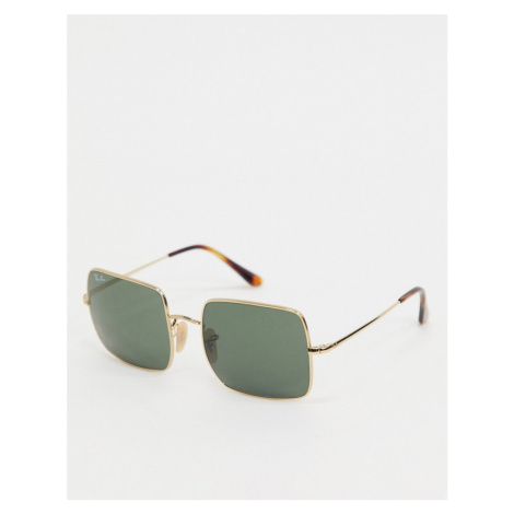 Ray-ban square sunglasses in gold ORB1971