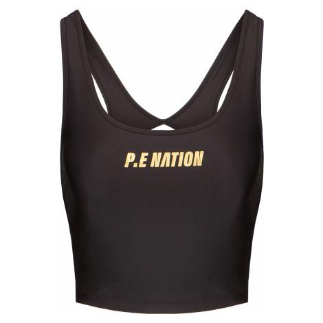 Sportovní top P.E Nation FRONT RUNNER TANK černá