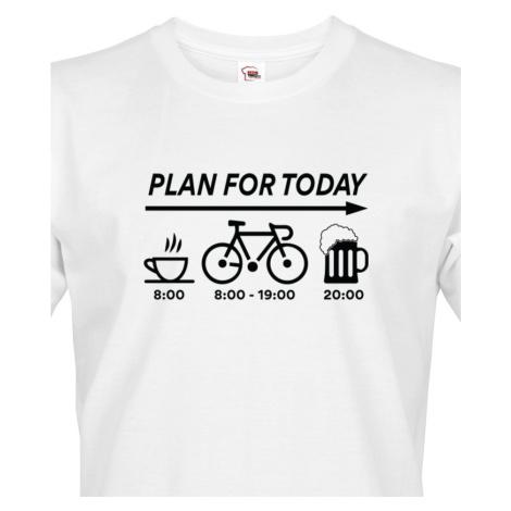Pánské tričko Plans for Today - ideální dárek pro cyklistu BezvaTriko