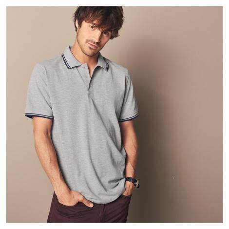 Blancheporte Polo tričko s krátkými rukávy šedý melír