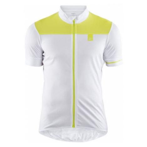 Craft POINT bílá - Pánský cyklistický dres