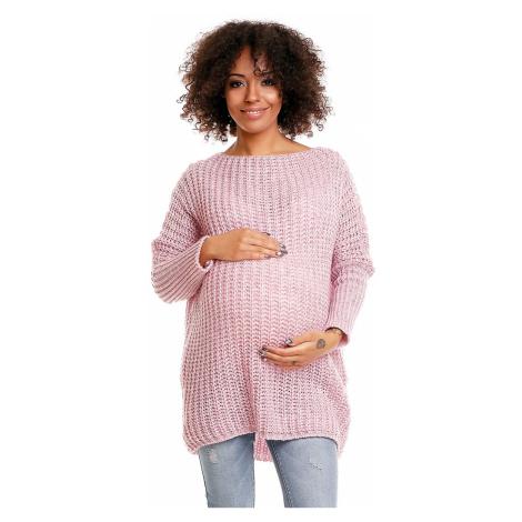 Světle růžový těhotenský pulovr 30043C PeeKaBoo