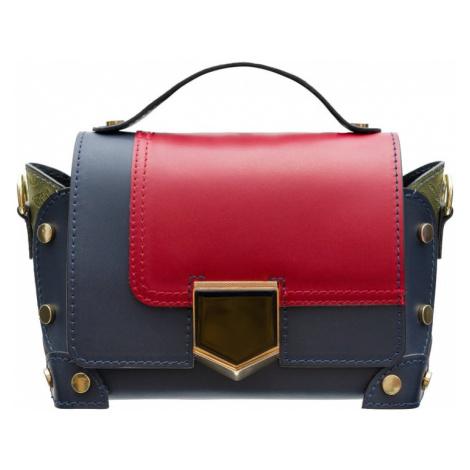 Dámská kožená crossbody kabelka se zdobením - multi color Glamorous