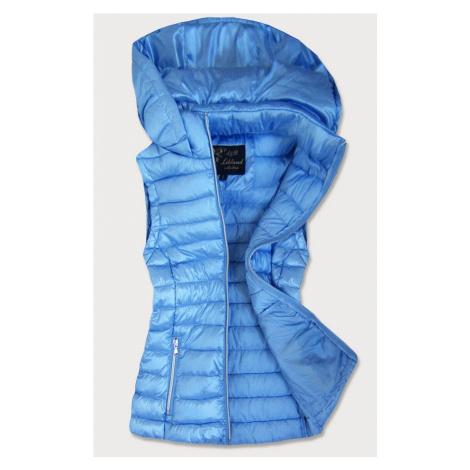 Světle prošívaná lesklá dámská vesta (7000)