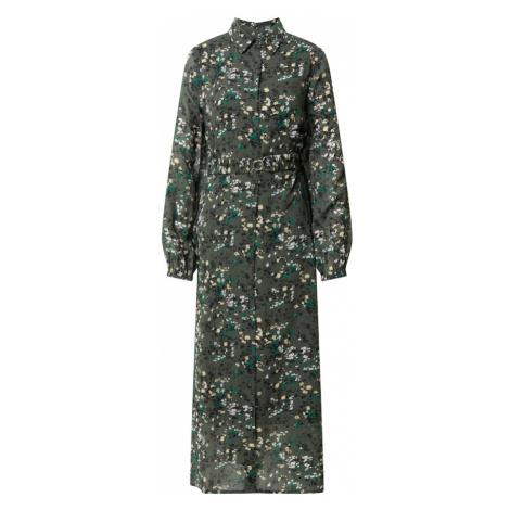 InWear Košilové šaty 'Barbel' olivová / bílá / světle žlutá