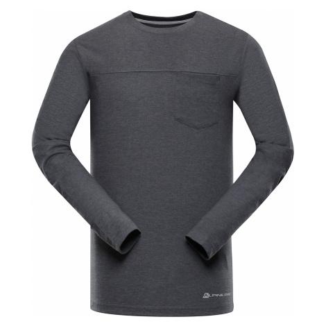 ALPINE PRO MAUD Pánské triko s dlouhým rukávem MTSP406779 tmavě šedá