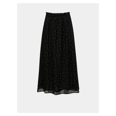 Only černá midi sukně Tracy