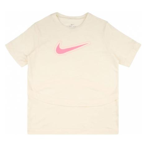 NIKE Funkční tričko 'Trophy' béžová / světle růžová