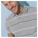 Blancheporte Pruhované polo tričko z piké úpletu, melír šedý melír
