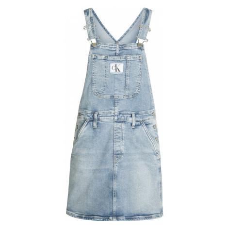 Calvin Klein Jeans Laclová sukně modrá džínovina