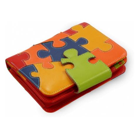 Motiv puzzle kožená peněženka Kenzie Arwel