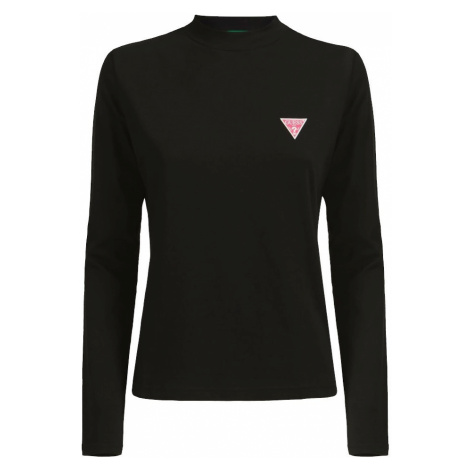 Guess GUESS dámské černé tričko s dlouhým rukávem LS CN ELIZA TEE