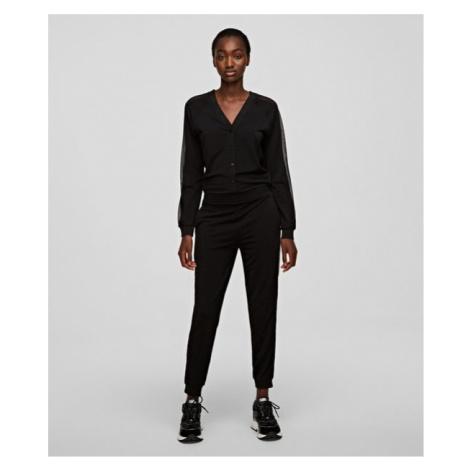 Šaty Karl Lagerfeld Crepe Jersey Jumpsuit W/ Mesh - Různobarevná