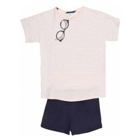 SANETTA Pyžamo světle fialová / námořnická modř / bílá / růžová Sanetta Kidswear