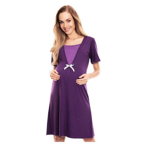 Mateřská noční košile Irena fialová PeeKaBoo