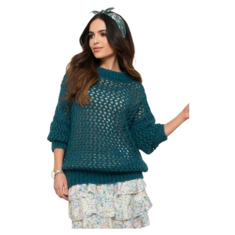 Kamea Woman's Sweater Malika K.21.617.18 Turquoise