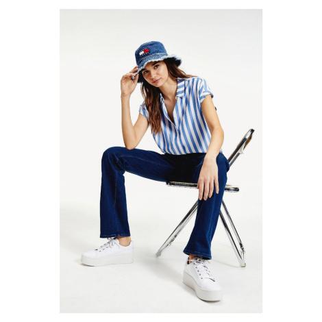 Tommy Hilfiger Tommy Jeans dámská modrá košile Twj Stripe Roll Up