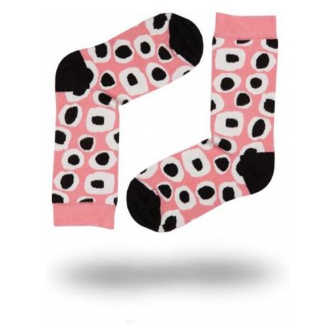 Dámské ponožky John Frank WJFLSFUN19-16 Světle růžová