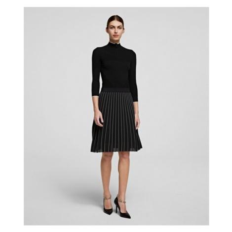 Šaty Karl Lagerfeld Knitwear Dress - Černá
