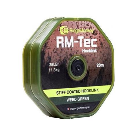 RidgeMonkey RM-Tec Stiff Coated Hooklink 20m Zelená
