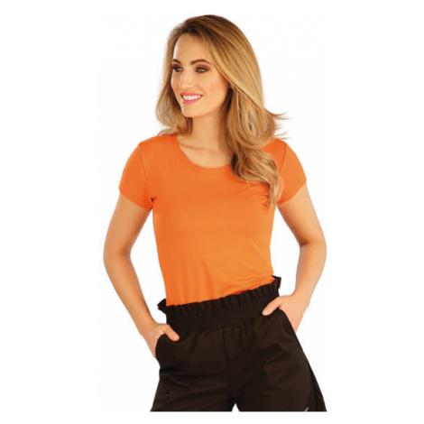 Dámské tričko s krátkým rukávem Litex 5A167 | oranžová