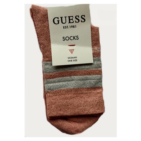 Dámské ponožky GUESS O0BY03 růžová | růžová